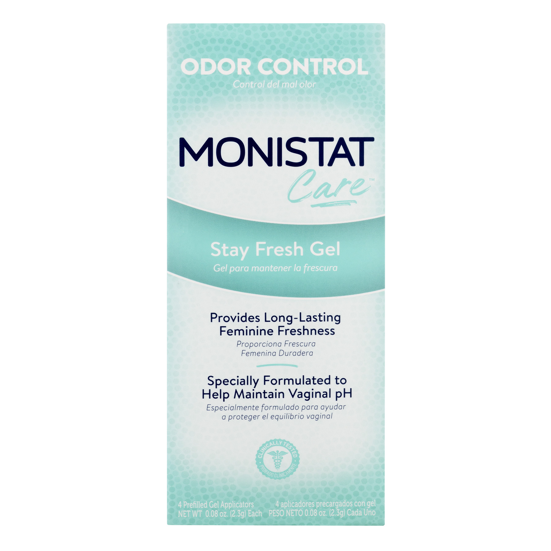 Monistat Care Stay Fresh Gel | 4 Pre-filled Applicators | Odor Control
