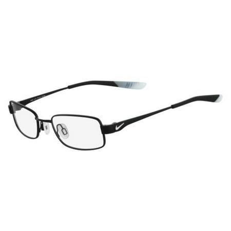 NIKE Eyeglasses 4637 006 Matte Black-Pure Platinum Rectangle Men's (Mens Eyeglasses Online)