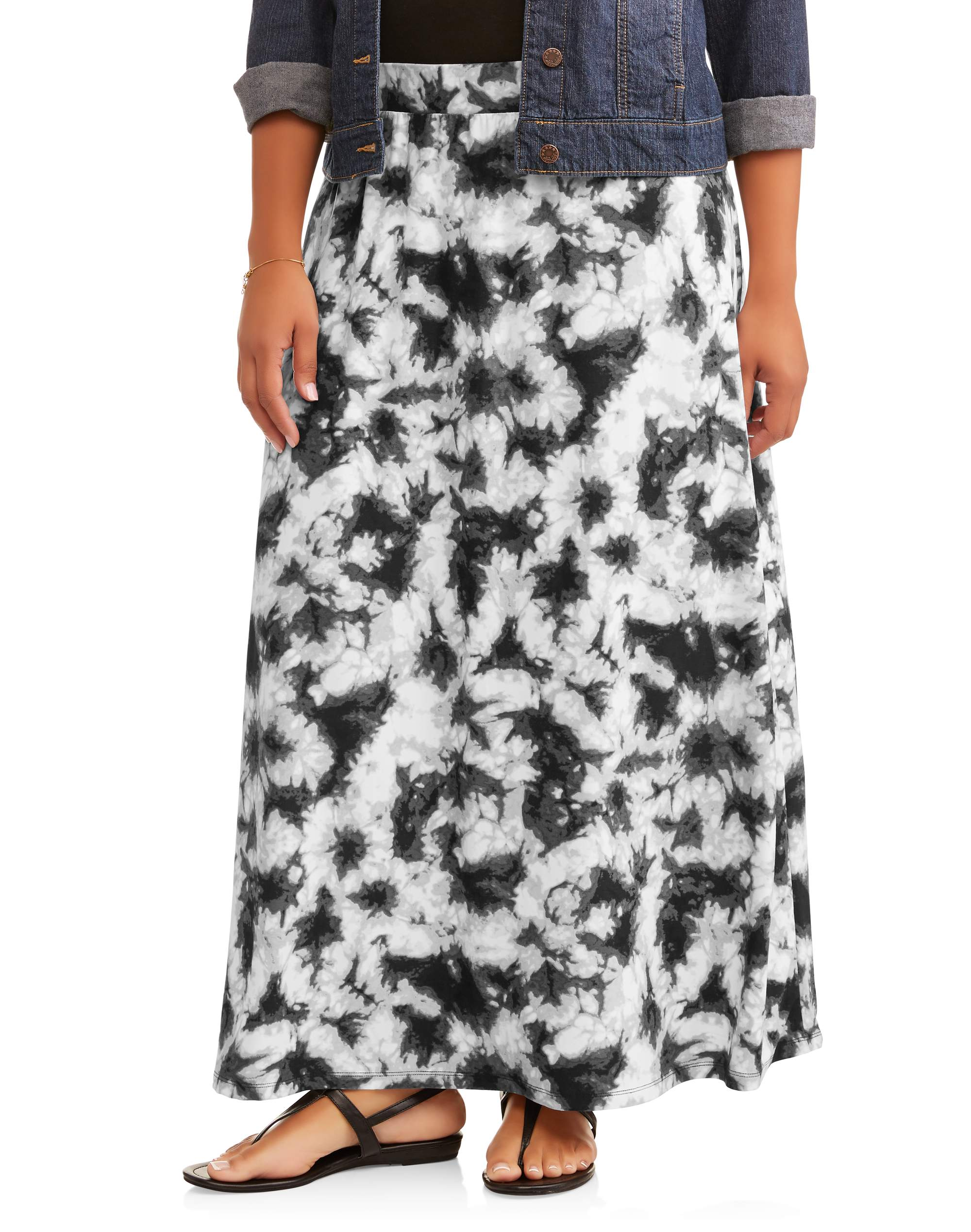 Women's Plus Super Soft Brushed Knit Maxi Skirt