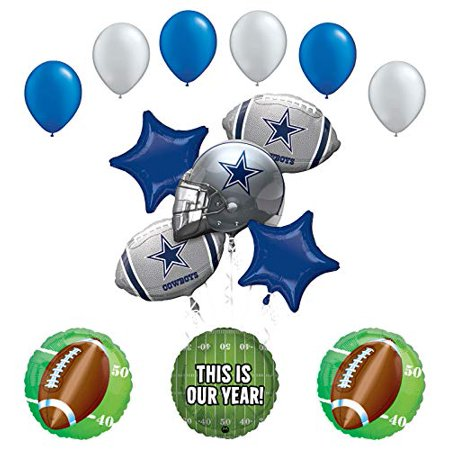 Mayflower Products Cowboys Football Party Supplies This is Our Year Balloon Bouquet Decoration](Football Balloons)