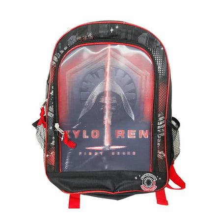 dec482b89c4 Star Wars The Force Awakens Backpack - Features Kylo Ren Holographic -  Walmart.com