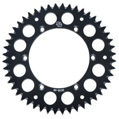 Primary Drive Rear Aluminum Sprocket 36 Tooth Black for Yamaha YFZ450R 2009-2018
