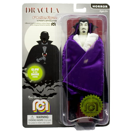 "Mego Action Figure, 8"" New Mego Glow in the Dark Dracula with Purple Cape (Limited Edition Collector's (Limited Edition R1)"
