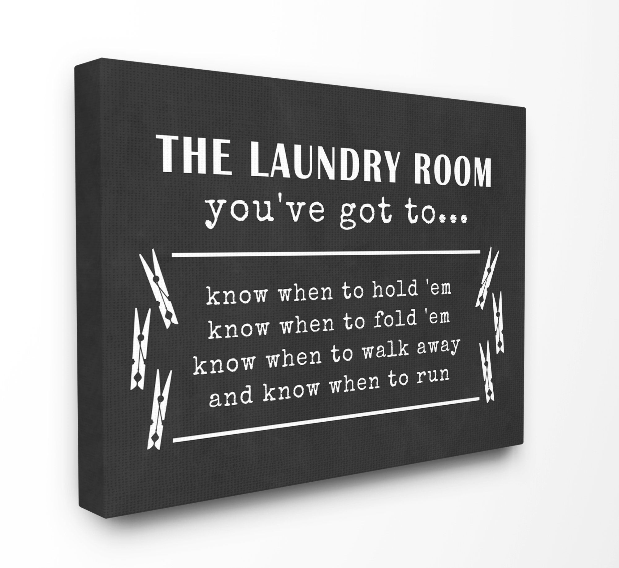 The Stupell Home Decor Collection Laundry Room You've Got To Know� Stretched Canvas Wall... by Stupell Industries