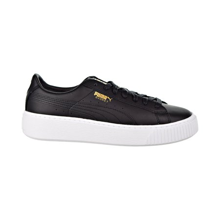 les ventes chaudes 87292 12e9d Puma Basket Platform Core Women's Shoes Puma Black/Gold 364040-03
