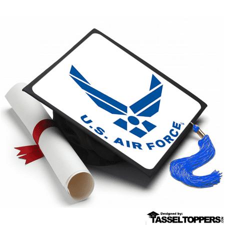 Decorating Ideas For Graduation Caps (US Air Force Grad Cap Tassel Topper Graduation Cap Decorations, Grad Cap Decorating)