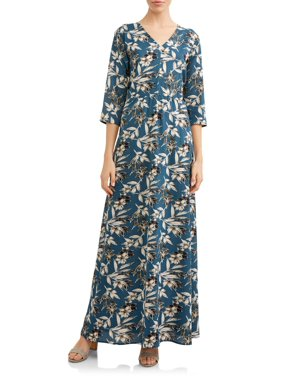 7f7be818202d Product Image Women s Elbow Sleeve Floral Maxi Dress