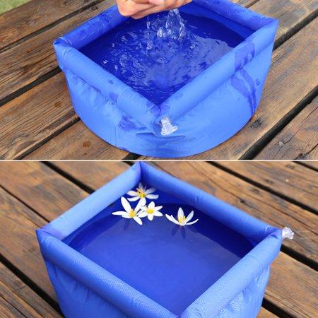 Vingtank Outdoor Folding Bucket Camping Travel Wash basin Inflatable Bucket - image 4 of 8