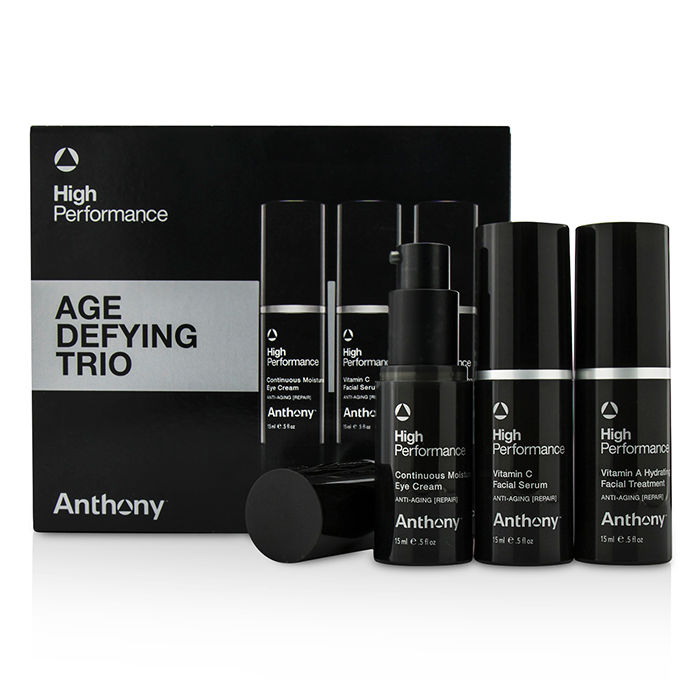 Anthony - High Performance Age Defying Trio: Facial Treatment 15ml Facial Serum 15ml Eye Cream 15ml - 3pcs