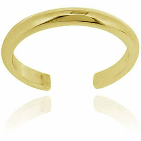 Polished 18kt Gold over Sterling Silver Toe Ring