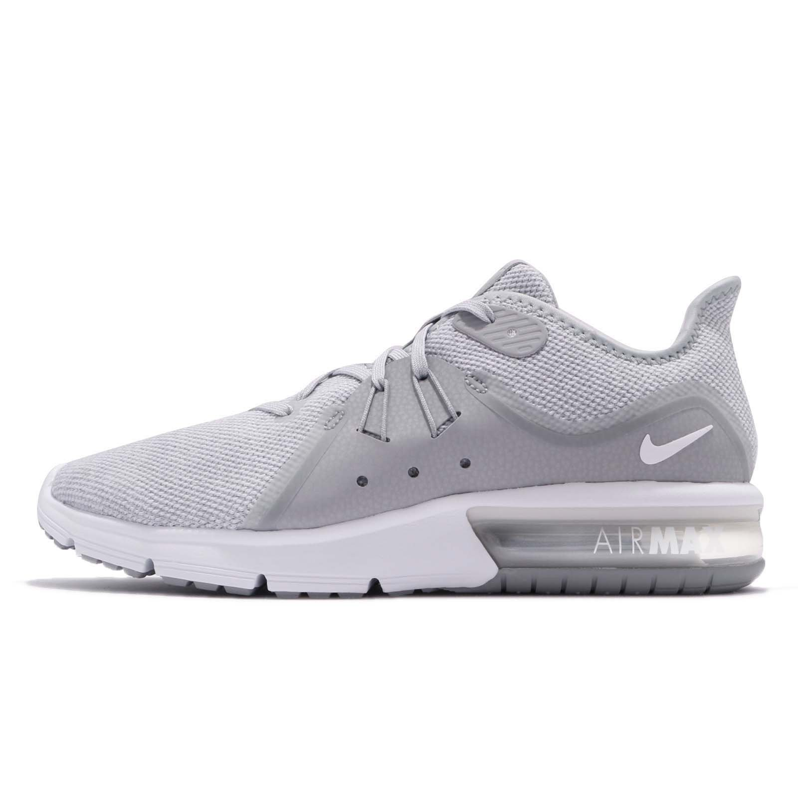 Nike 921694-003: Men's Air Max Sequent 3 Wolf Grey/White Running Sneaker (9 D(M) US Men)