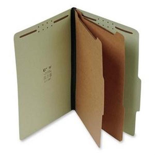 Classification Folder,2 Dividers,6 Fasteners,Lgl,15/BX,GN SJPS61901