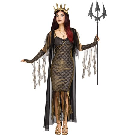 Sea Queen Womens Adult Royal Siren Mermaid Halloween Costume - Sea Siren Halloween Costume