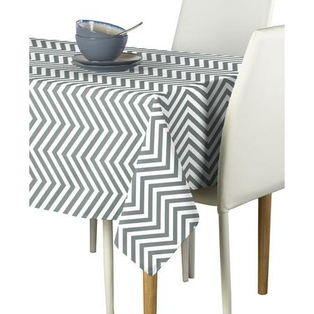 Grey Chevron Plastic Tablecloth (Gray Chevron Tablecloth)