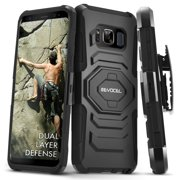 Galaxy S8 Active Case, Evocel [Belt Clip Holster] [Kickstand] [Dual Layer] New Generation Phone Case for Samsung Galaxy S8 Active (SM-G892) (2017 Release), Black