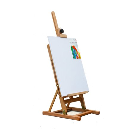 Ktaxon Table Top Easel, 32 to 46 inch Tall Adjustable Classic Hand-Finished Beechwood Studio H-Frame Artist Easel Stand, for Student & Kids Painting (Table Top Easel)