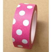 Love My Tapes Washi Tape 15mmX10m-Magenta W/White Polka Dots