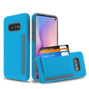 """Samsung Galaxy S10e (5.8"""") Wallet Phone Case Ultra Protective Cover with 3 Cedit Card ID Holder Slot [Slim] Heavy Duty Shockproof Hybrid Hard PC + TPU Armor BLUE Case for Samsung Galaxy S10E / S10 e"""