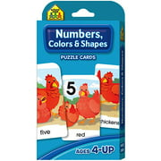 Game Cards Numbers, Colors and Shapes