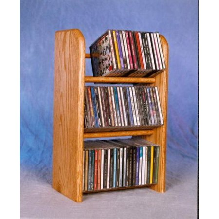 Solid Oak 3 Row Dowel CD Rack Model -