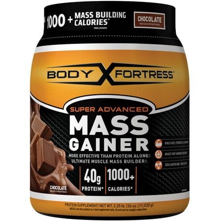Body Fortress® Super Advanced Mass Gainer, Chocolate, 2.25 Pounds High Protein Gainer