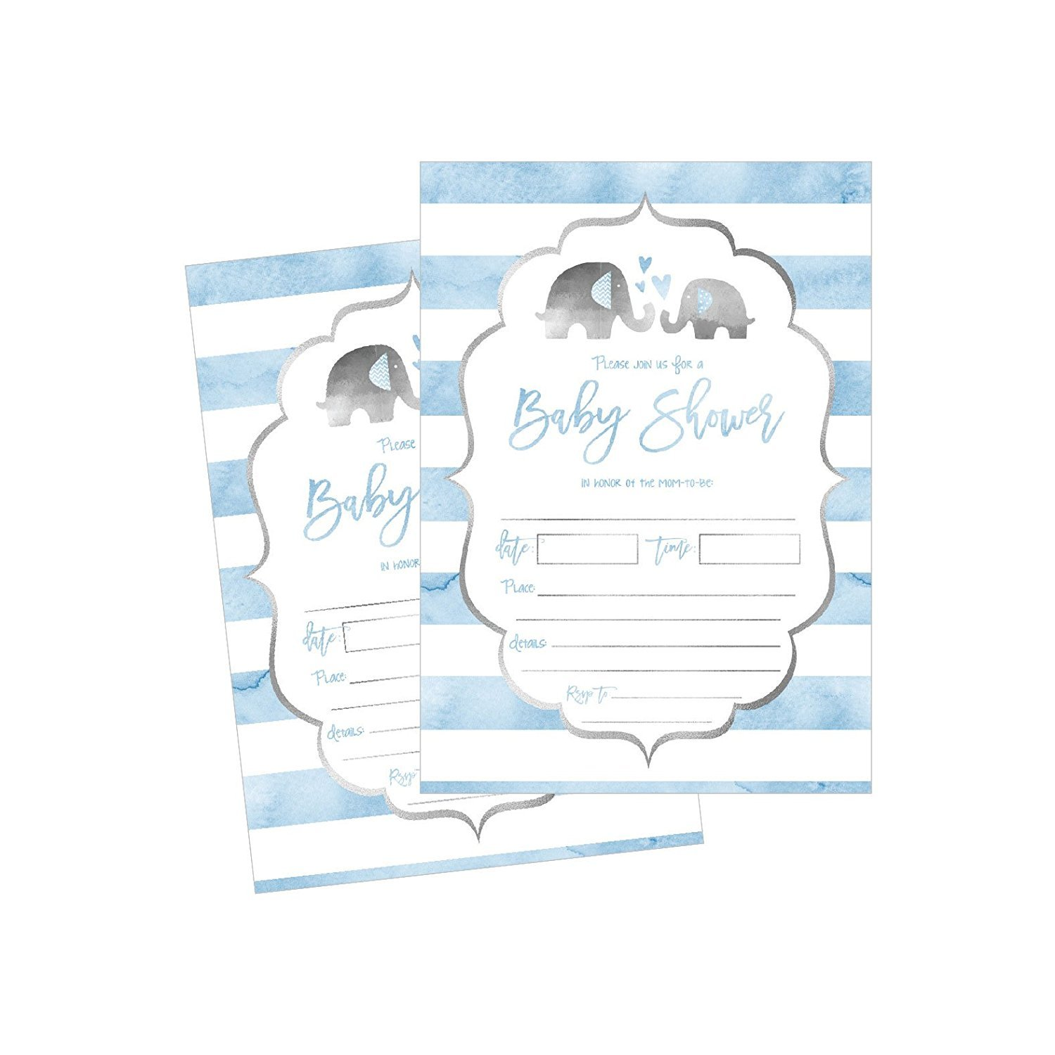 50 Fill In Baby Shower Invitations