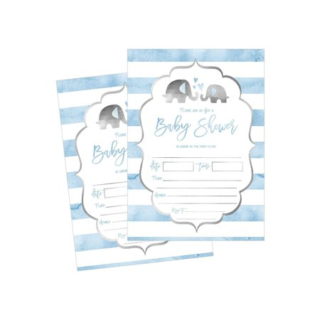 50 Fill in Baby Shower Invitations, Baby Shower Invitations Elephant, Jungle, Baby Shower Invites Boy, Baby Boy Shower Invitations, Baby Invitations, Neutral Baby Shower Invitations - Safari Themed Invitations