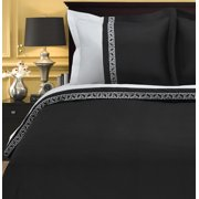 Impressions Rico Greek Key Microfiber-Polyester Duvet Cover Set