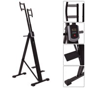 Costway Foldable Vertical Climber Machine Exercise Stepper Cardio Workout Fitness Gym by Costway