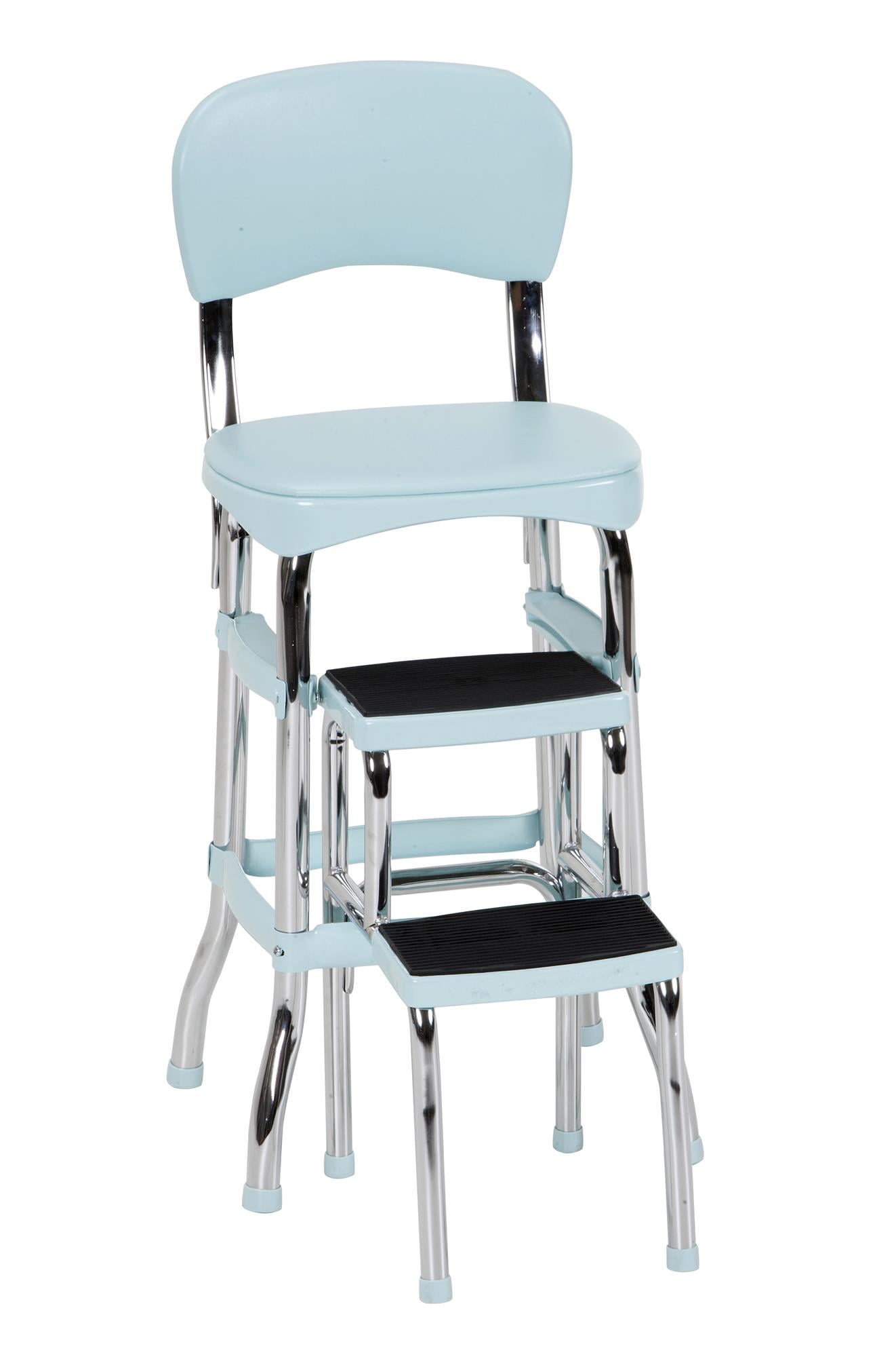 Cosco Stylaire Retro Chair Step Stool With Pull Out Steps Teal One Pack Walmart Com Walmart Com