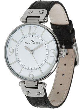 Anne Klein Women's Leather Watch 10-9169WTBK