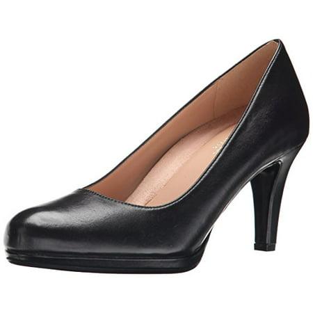 Black Leather Comfort Pumps - Naturalizer MICHELLE Womens Black Leather Platform Comfort Classic Pumps Shoes