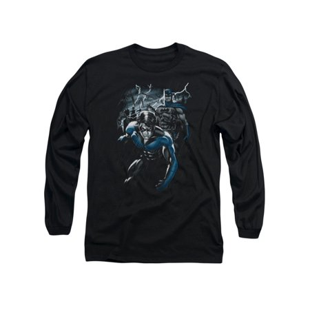 Batman DC Comics Dynamic Duo Adult Long Sleeve T-Shirt Tee