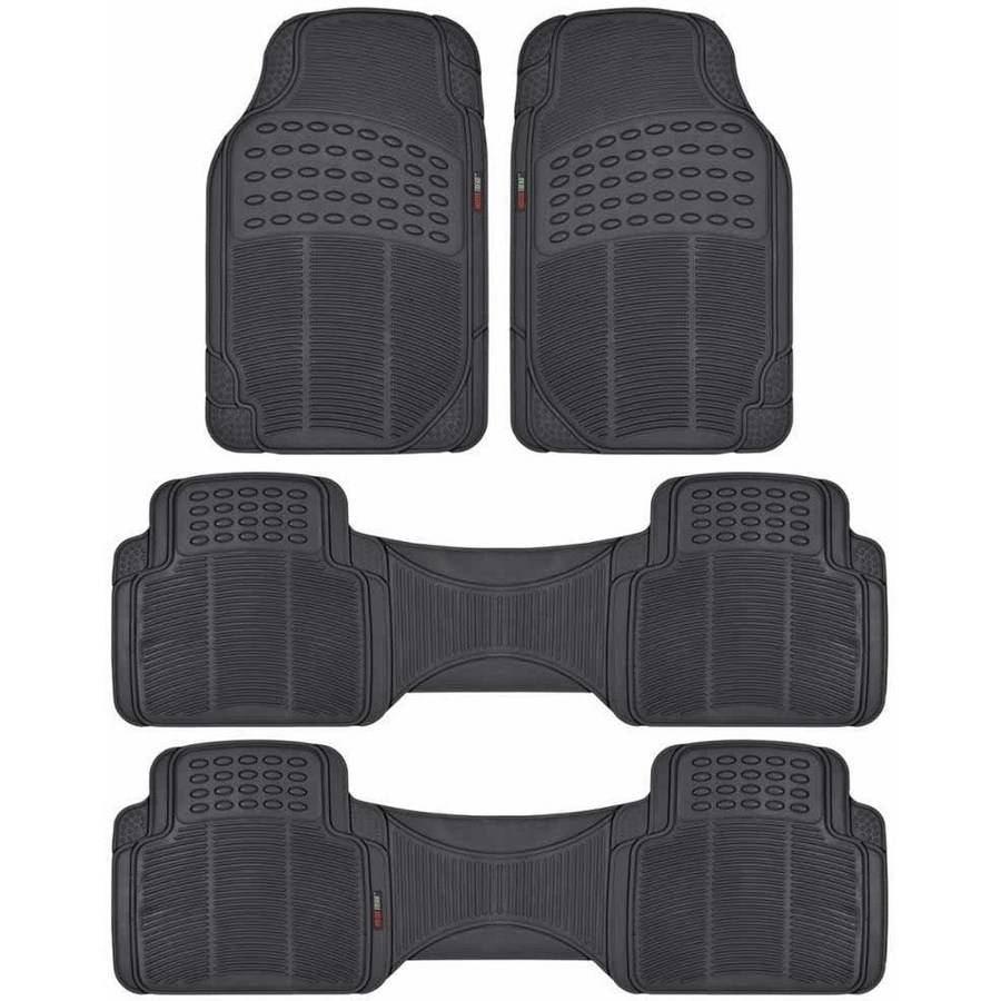 Motor Trend Odorless Car Floor Mats Heavy Duty Rubber 3