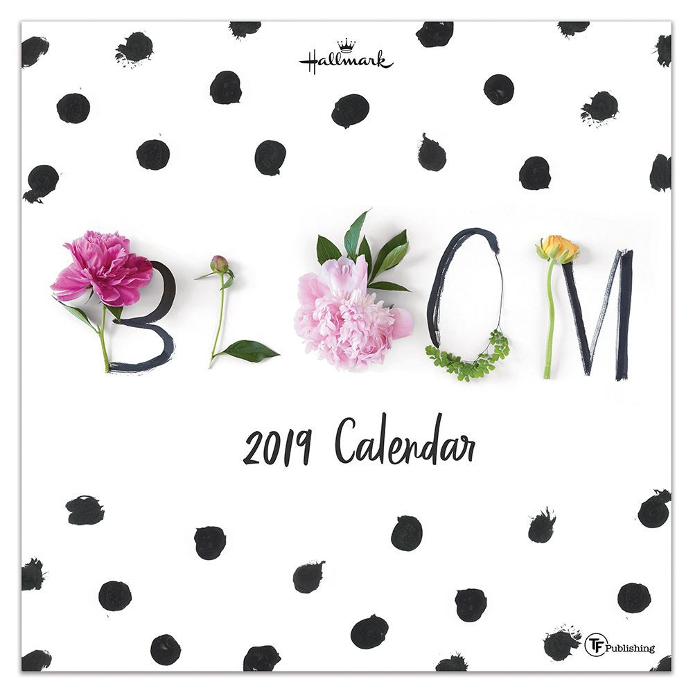 "2019 Bloom by Hallmark 12"" x 12"" January 2019-December 2019 Wall Calendar"