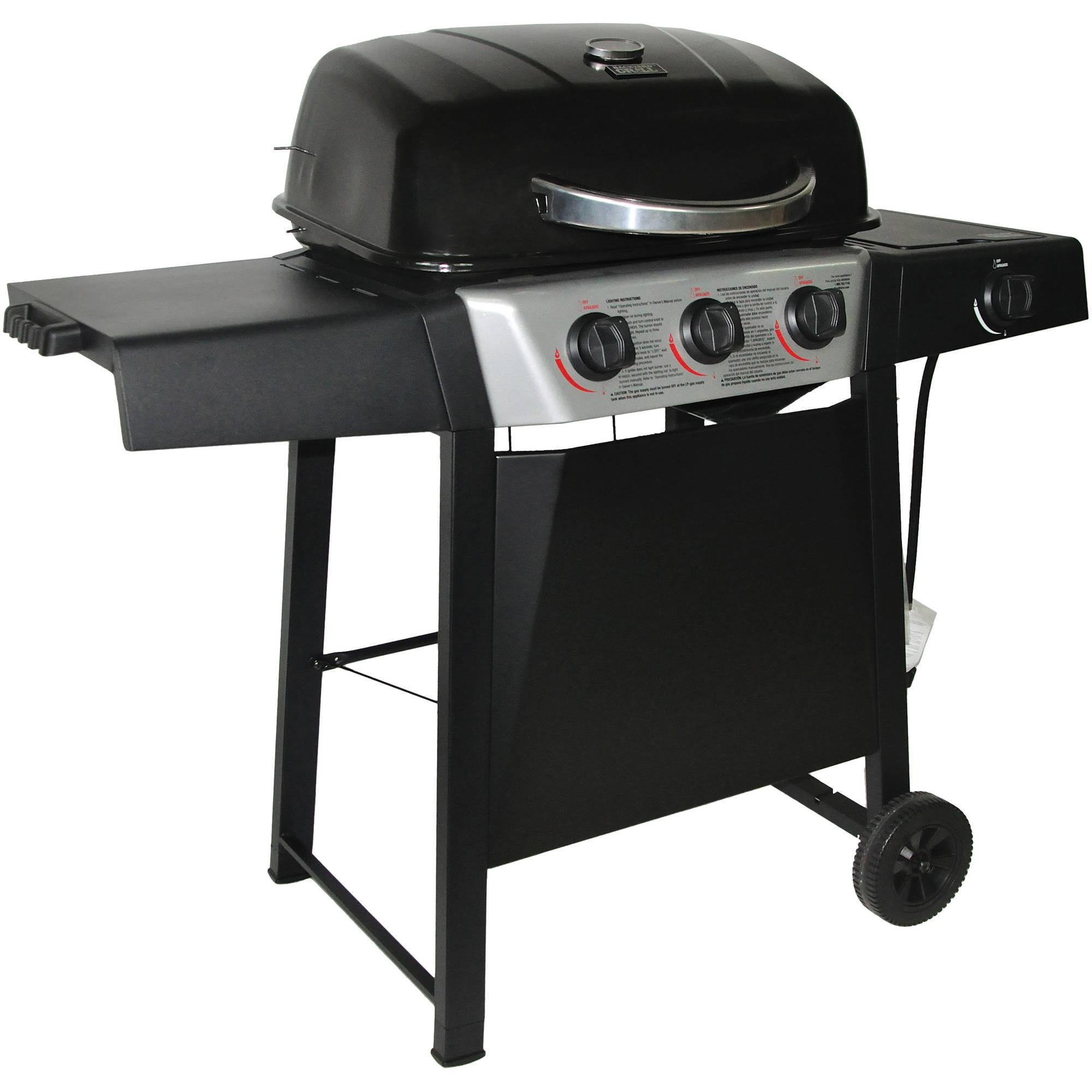 3-Burner Gas Grill with Side Burner