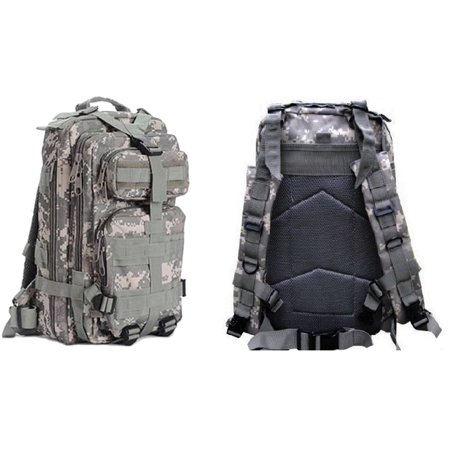 Ultimate Arms Gear Tactical ACU Army Digital Camo Compact Level 3 Full Featured Assault Pack Backpack 3 Day Bug Out Bag Combat Multi-Functional Equipment Survival Assault Transport MOLLE