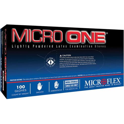 Microflex Corporation Medium Micro 1 Lightly Powdered Latex Examination Gloves