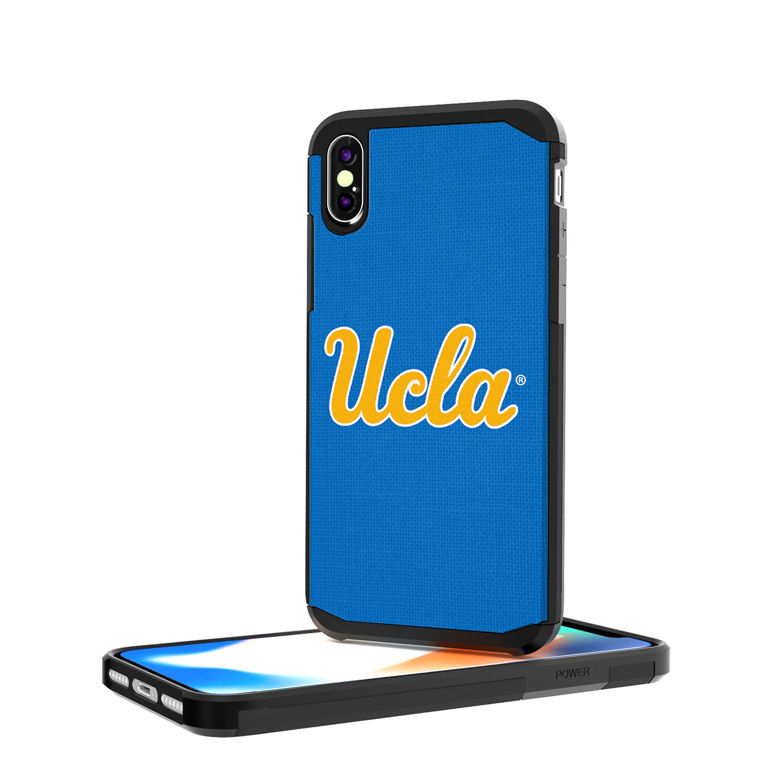 UCLA Bruins Solid Rugged Case for iPhone X