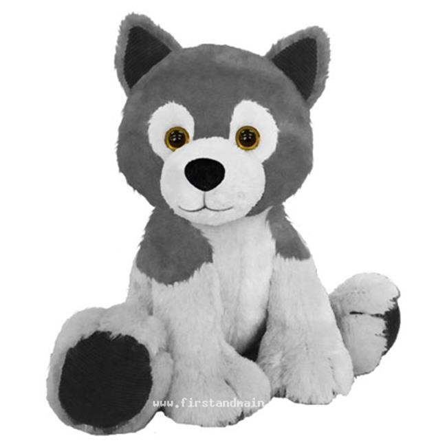 First Main 7823 7 In Sitting Floppy Friends Wolf Plush Toy