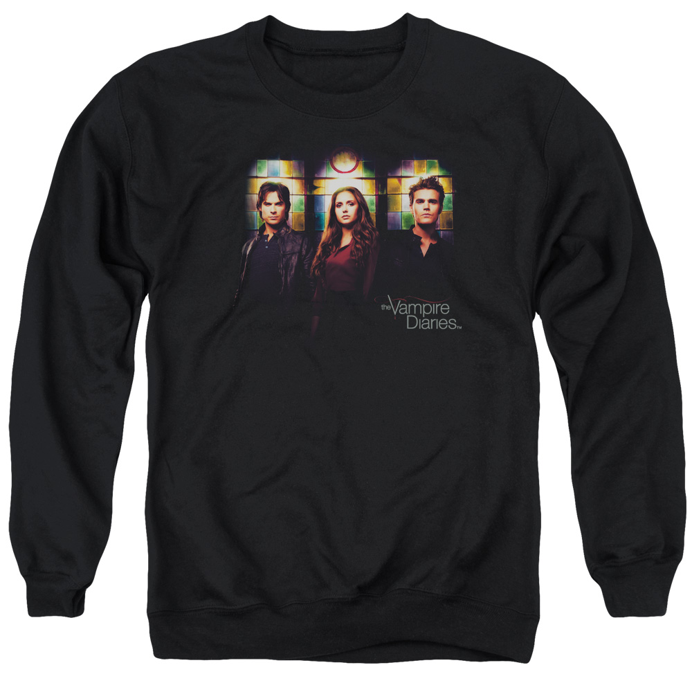 Vampire Diaries Stained Windows Mens Crewneck Sweatshirt