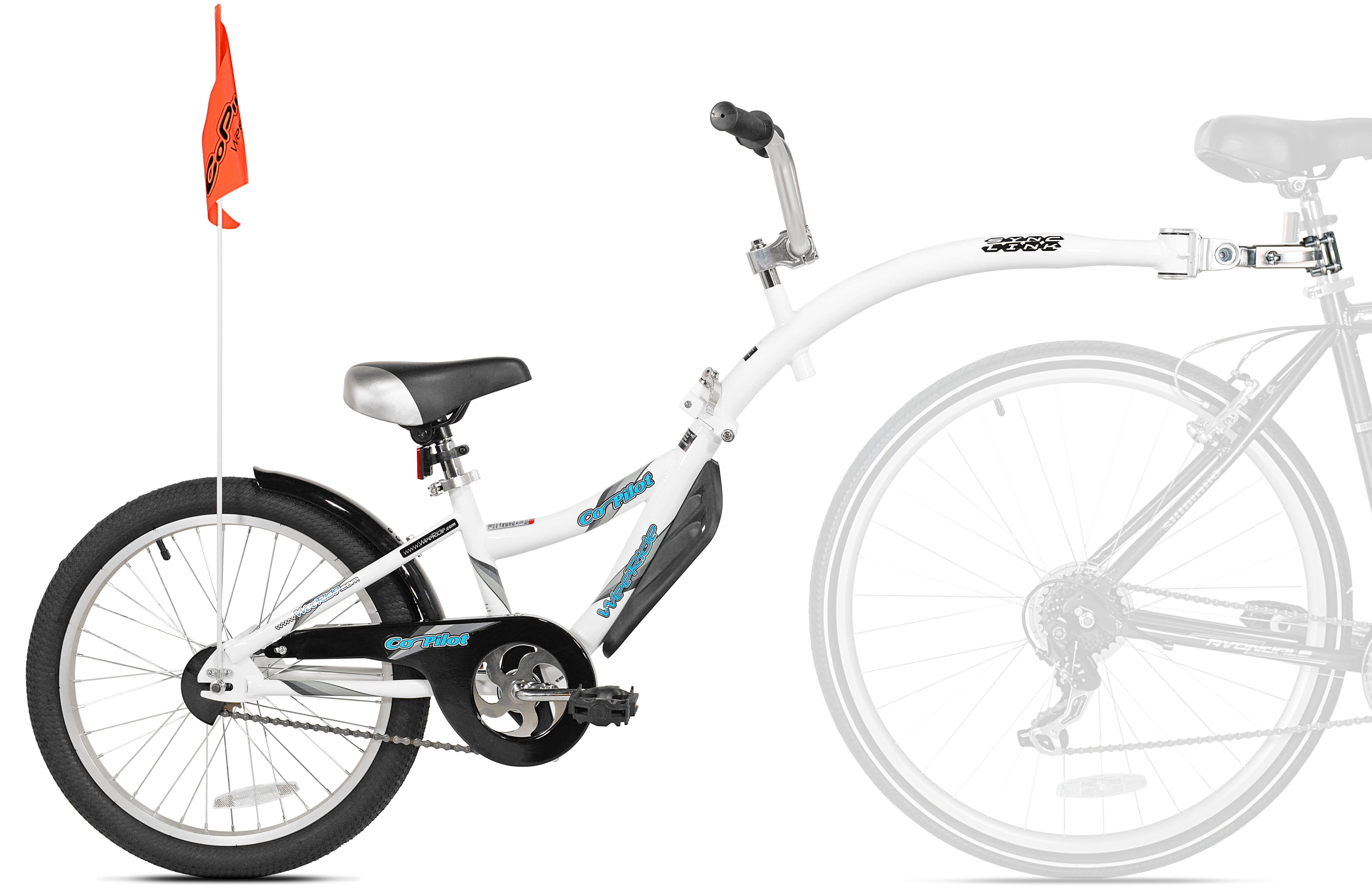 """WeeRide 20"""", Co-Pilot Child Bike Trailer, White, For Ages 5-9 - Walmart.com"""