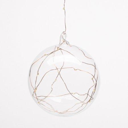 "Richland Clear Hanging LED Lighted Glass Balls 5.5"" (Light Up Hanging Balls)"