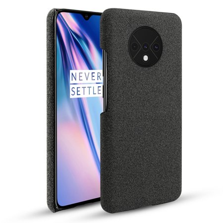 TORUBIA Case for OnePlus 7T {Fully Protective Shockproof dustproof & Screen Protection}Ultra Thin Hard PC Woven Design Anti-scratch Phone Protector Black - image 1 of 7