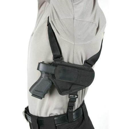 Blackhawk 40HS05BKMD Nylon Shoulder Holster Medium Universal Semi-Auto Handgun 1000 Denier Cordura Nylon Black