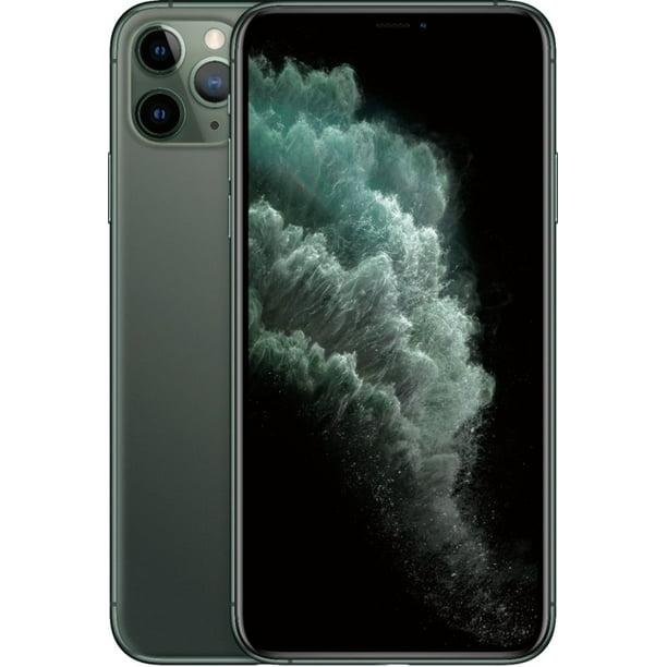 Refurbished Apple Iphone 11 Pro Max 256gb Midnight Green Lte Cellular T Mobile Mwfw2ll A Walmart Com Walmart Com