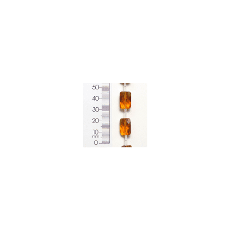 Faceted Rectangle Shape - Expo Int'l Rectangle Faceted Glass Bead 8 Inch Strand