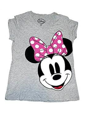 3071d7a12e40 Product Image [P] Disney Classic Minnie Mouse BIG SMILE Womens Pajama T  Shirt Top - Grey