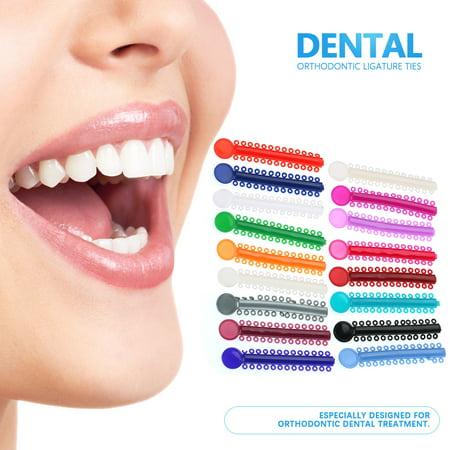 530f5ed51 EECOO 1040pcs Multi-color Dental Orthodontic Ligature Ties Teeth ...