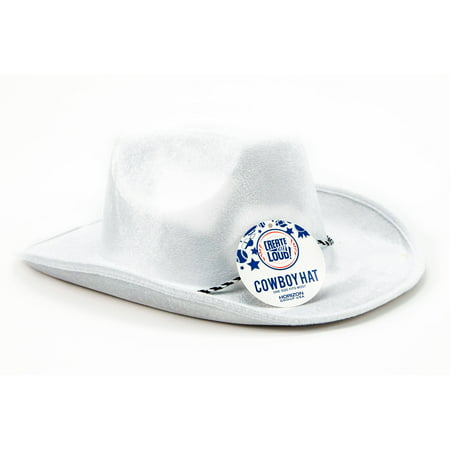 Create Out Loud White Cowboy Hat by Horizon Group (Santa's Strung Out Hat)